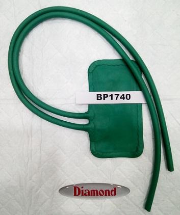 DIAMOND BP1740 RUBBER BAG PEDIATRIC-GREEN