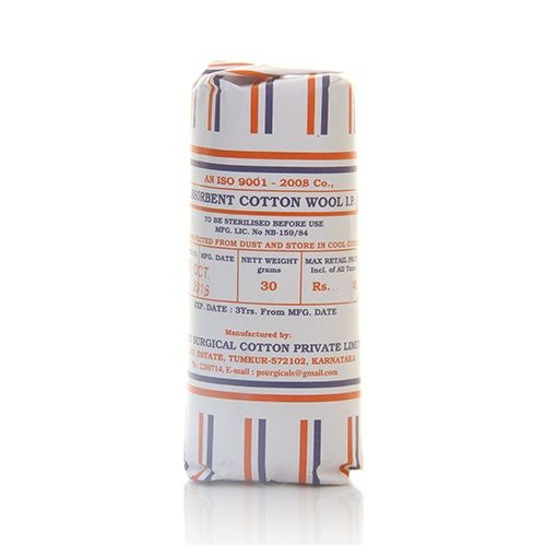 ABSORBENT COTTON WOOL 30GM X 8S