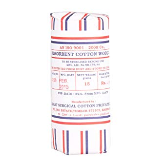 ABSORBENT COTTON WOOL 15GM X 16S