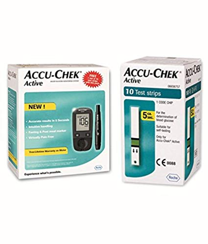 ACCUCHEK ACTIVE GLUCOMETER WITH 10S STRIPS