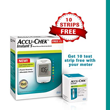 ACCUCHEK INSTANT S GLUCOMETER WITH 10S STRIPS